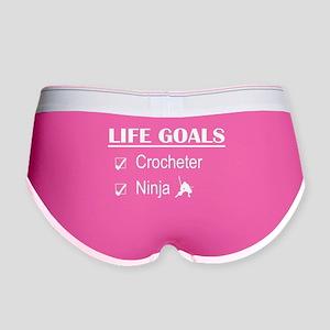 Crocheter Ninja Life Goals Women's Boy Brief