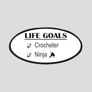 Crocheter Ninja Life Goals Patches