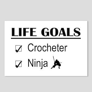 Crocheter Ninja Life Goal Postcards (Package of 8)