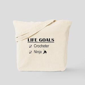 Crocheter Ninja Life Goals Tote Bag