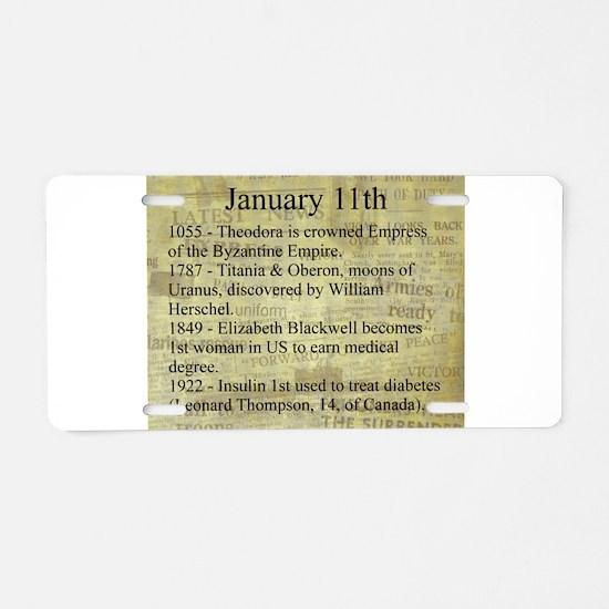 January 11th Aluminum License Plate