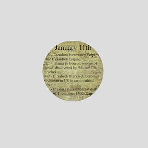 January 11th Mini Button