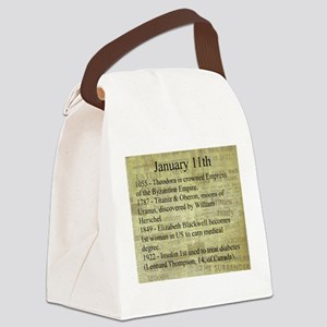 January 11th Canvas Lunch Bag