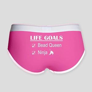 Bead Queen Ninja Life Goals Women's Boy Brief