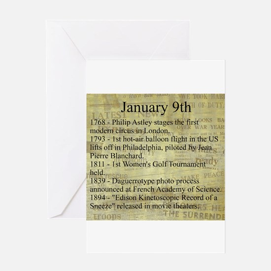 January 9th Greeting Cards