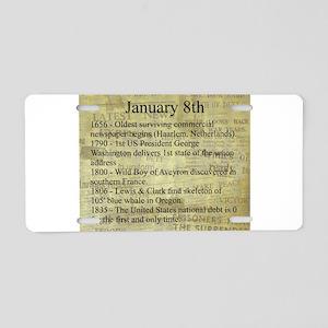 January 8th Aluminum License Plate