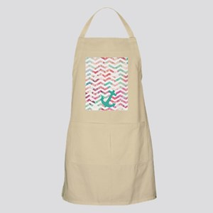 Turquoise Anchor Chevron Pink Chic Floral Pa Apron