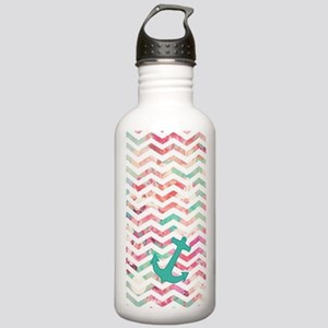 Turquoise Anchor Chevr Stainless Water Bottle 1.0L