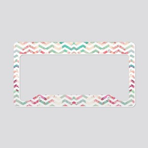 Turquoise Anchor Chevron Pink License Plate Holder
