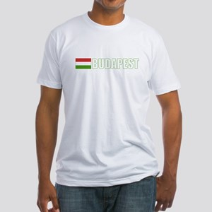 Budapest, Hungary Flag (Dark) Fitted T-Shirt