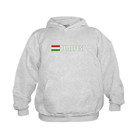Budapest, Hungary Flag (Dark) Kids Hoodie