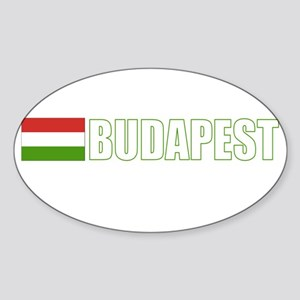 Budapest, Hungary Flag (Dark) Oval Sticker