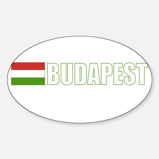 Budapest, Hungary Flag (Dark) Oval Decal