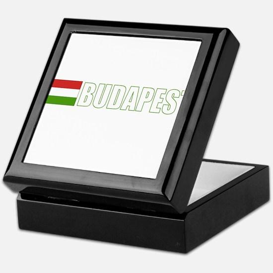 Budapest, Hungary Flag (Dark) Keepsake Box