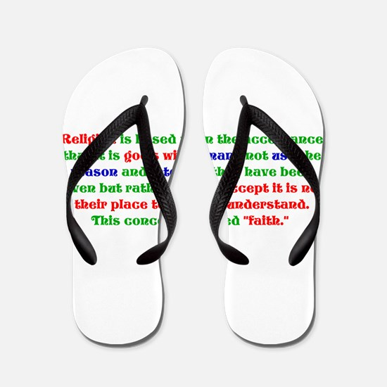 Faith Flip Flops