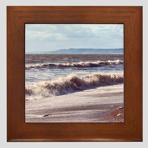 Crashing Waves Framed Tile