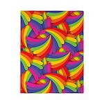 Rainbow Fan Pattern Twin Duvet