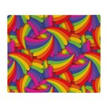 Rainbow Fan Pattern Throw Blanket