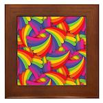 Rainbow Fan Pattern Framed Tile