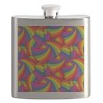 Rainbow Fan Pattern Flask