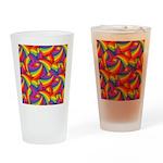 Rainbow Fan Pattern Drinking Glass
