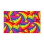 Rainbow Fan Pattern Wall Decal