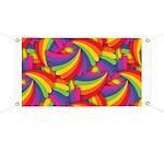 Rainbow Fan Pattern Banner