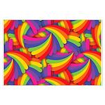 Rainbow Fan Pattern Posters