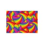 Rainbow Fan Pattern 5'x7'Area Rug