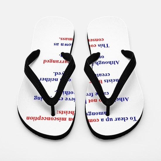 Science Lesson Flip Flops