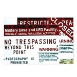 postcards AREA 51 CLOSED(Package of 8)