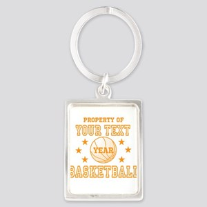Personalized Property of Basketball Keychains