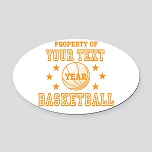 Personalized Property of Basketball Oval Car Magne