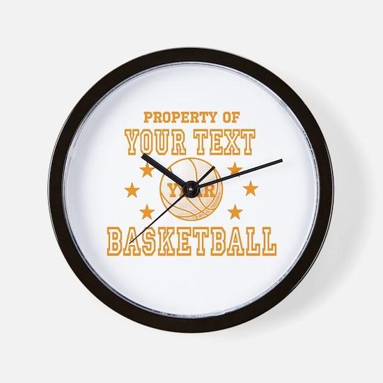 Personalized Property of Basketball Wall Clock