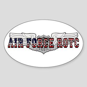 ROTC Pilot Wings Oval Sticker