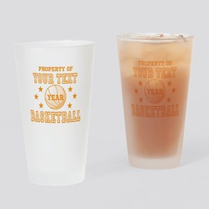 Personalized Property of Basketball Drinking Glass