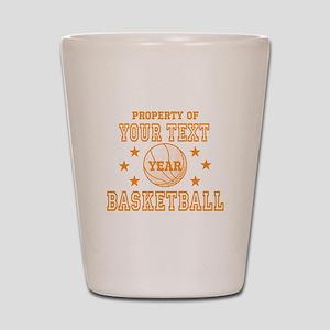 Personalized Property of Basketball Shot Glass