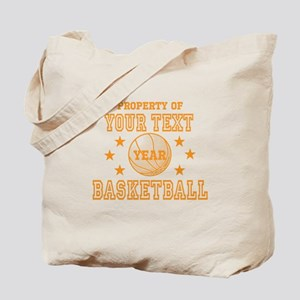 Personalized Property of Basketball Tote Bag