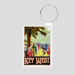 Key West Florida Aluminum Photo Keychain