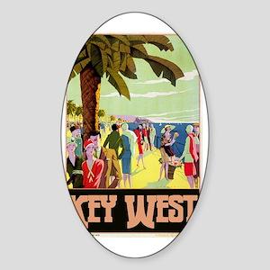Key West Florida Sticker (Oval)