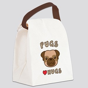 Cute Pugs Love Hugs, For dog lovers Canvas Lunch B