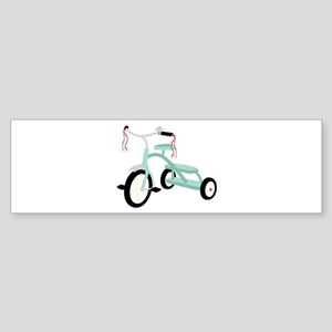 Light Blue Tricycle Bumper Sticker