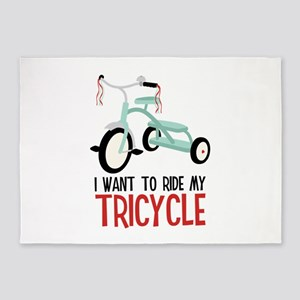 I Want To Ride My Tricycle 5'x7'Area Rug