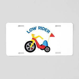 Low Rider Aluminum License Plate