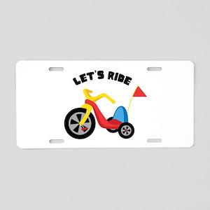 Lets Ride Aluminum License Plate