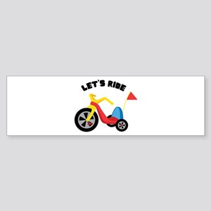 Lets Ride Bumper Sticker