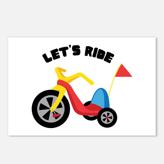 Lets Ride Postcards (Package of 8)