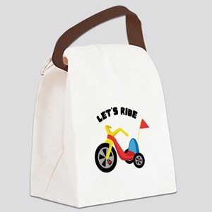 Lets Ride Canvas Lunch Bag