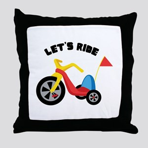 Lets Ride Throw Pillow