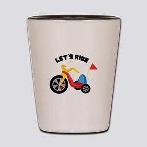 Lets Ride Shot Glass